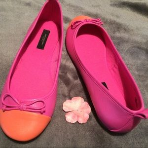 NWOT ANN TAYLOR LEATHER flats NEVER WORN